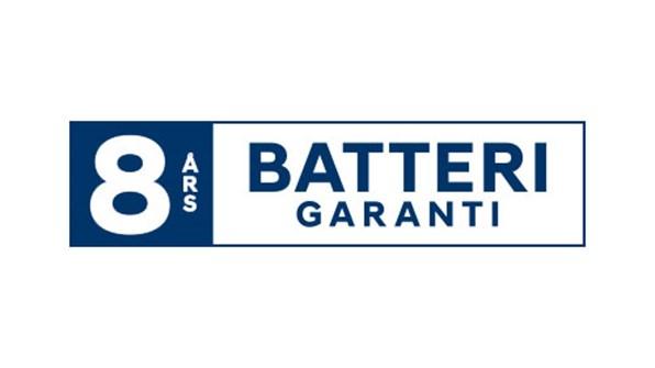 8-års garanti på högspänningsbatteriet