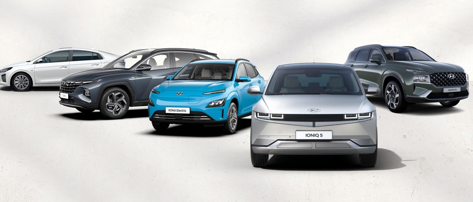 Brett utbud av Hyundai tjänstebilar