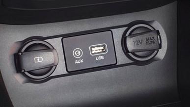 USB- och AUX-uttag