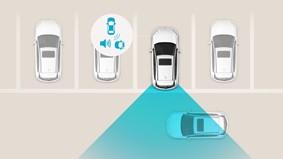 Varningssystem för korsande trafik vid backning